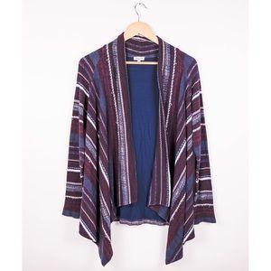 Splendid maroon burgundy boho striped cardigan